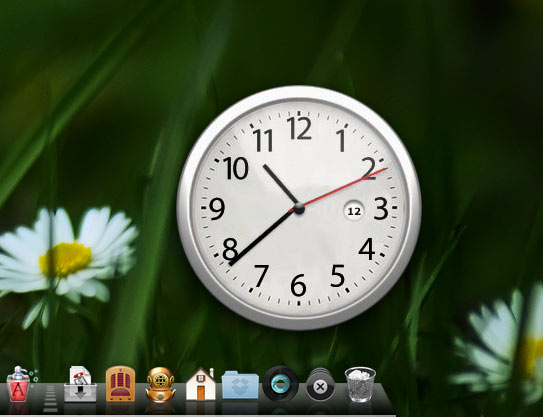 Chrome Clock Widget