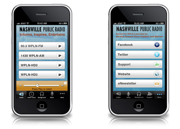 WPLN iPhone App Design